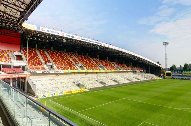 Sfeerbeeld AFAS Stadion voetbalclub KV Mechelen. Klik op de foto om naar het project te gaan